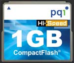 PQI 1GB CompactFlash Card ... only $90.01
