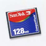 SanDisk SDCFB128A10 128MB COMPACTFLASH CARD ... only $33.16