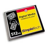 SimpleTech 512MB COMPACTFLASH CARD ... only $69.17
